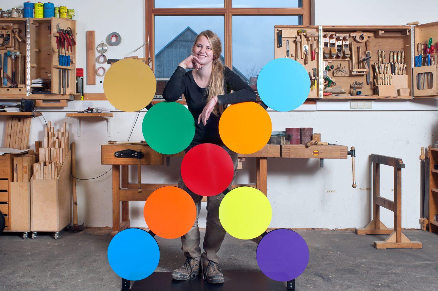 Annbritt von Scheliha, Auszubildende im Tischlerhandwerk, Tischlerei Fuhrmann