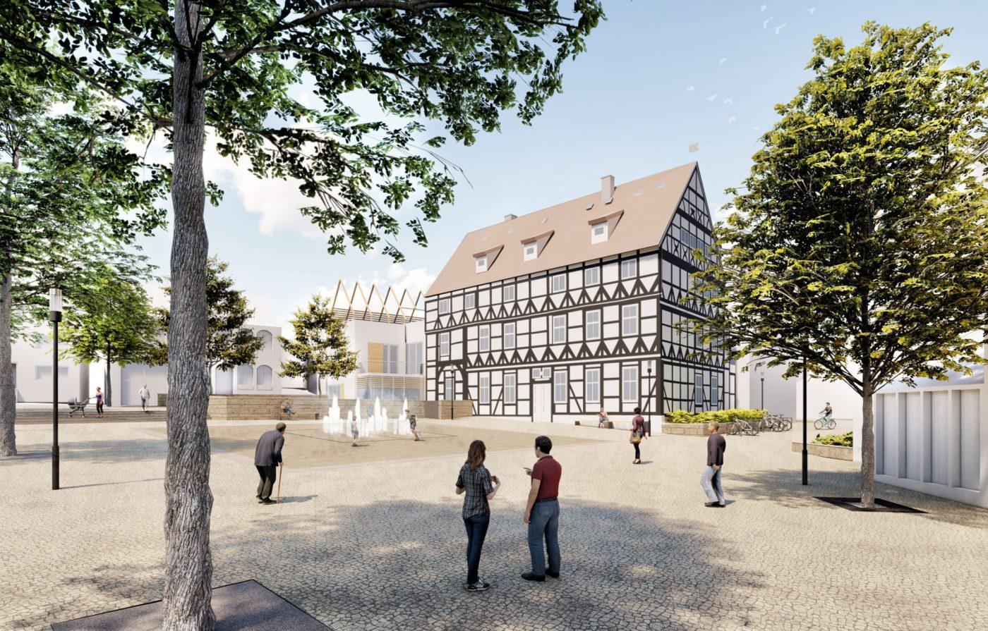 Siegerentwurf Umgestaltung Richterplatz Visualisierung